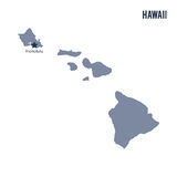 Vector map State of Hawaii isolated on white background. Royalty Free Stock Photos