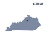 Vector map State of Kentucky isolated on white background. Royalty Free Stock Images