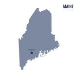 Vector map State of Maine isolated on white background. Stock Image