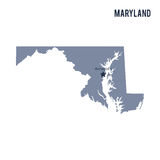 Vector map State of Maryland isolated on white background. Stock Photo