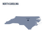 Vector map State of North Carolina isolated on white background. Travel Vector Illustration Royalty Free Stock Image