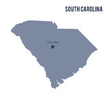 Vector map State of South Carolina isolated on white background. Stock Image