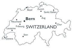 Vector map of Switzerland stock vector. Illustration of ...
