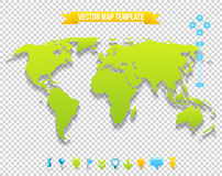 Vector Map Template Stock Image
