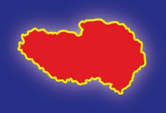 Vector map Tibet Stock Photo