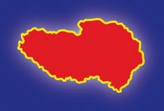 Vector map Tibet Stock Photo