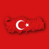 Vector map Turkey Royalty Free Stock Photo