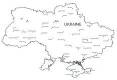 Vector map of Ukraine Stock Photo