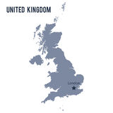 Vector map of United Kingdom isolated on white background. Royalty Free Stock Image