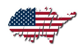 Vector map United States Royalty Free Stock Images