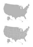 Vector map of the United States of America Royalty Free Stock Photography