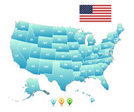 Vector map of the united states of america Stock Photo