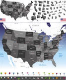Vector map of United States Royalty Free Stock Image