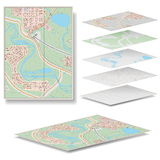Vector Map. On white background Royalty Free Stock Images