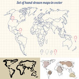Vector maps Royalty Free Stock Photography