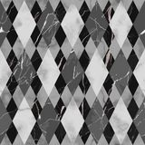 Marble Black and White Luxury Geometric Seamless Pattern vector illustration