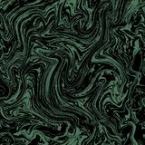 Vector marble seamless pattern. Marble green pattern on dark background royalty free illustration