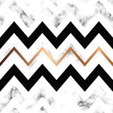 Vector marble texture design with golden geometric lines, black and white marbling surface, modern luxurious background. Vector illustration vector illustration