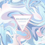 Vector marble texture. Mix of blue and pink paints. royalty free illustration