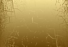 Vector Marble Texture With Cracked Golden Foil. Patina. Gold Scratch Background. Abstract Glamour Golden Grunge Design Backdrop Stock Images