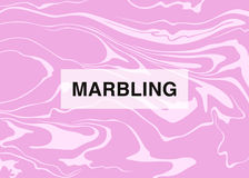 Vector marbling background with serene and pink tone colors. Vector bright serene marbling background stock illustration