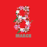Vector 8 march background. Womans day. Vector modern 8 march background. Womans day vector illustration