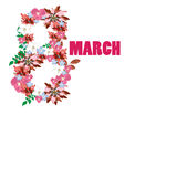 Vector 8 march background. Womans day. Vector modern 8 march background. Womans day stock illustration