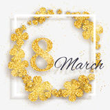 Vector 8 March Happy International Women`s Day greeting card Royalty Free Stock Photo