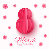 Vector March 8 invitation card. Happy International Womens Day background Stock Photo