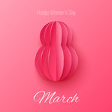 Vector March 8 invitation card. Happy International Womens Day background Royalty Free Stock Photo