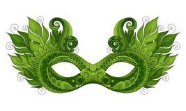 Vector Mardi Gras Carnival Mask coloreado adornado con las plumas decorativas Imagenes de archivo