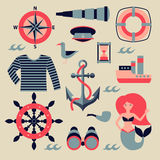 Vector marine set Royalty Free Stock Images