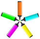 Vector marker color pen Stock Photos