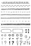 Vector marker elements, hand drawing Stock Images