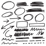 Vector marker elements Stock Image