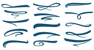 Vector Marker Stroke Line Lettering Underlines Collection Royalty Free Stock Photography