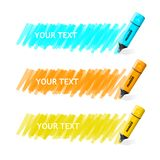 Vector markers text box Royalty Free Stock Images