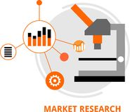Vector - market research Royalty Free Stock Photography