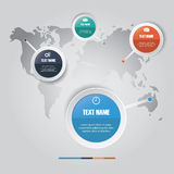 Vector of marketing concept infographic element Royalty Free Stock Photo