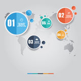 Vector of marketing concept infographic element Royalty Free Stock Image