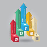 Vector of marketing infographic element arrow style. Royalty Free Stock Images
