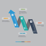 Vector of marketing infographic element arrow style Stock Image