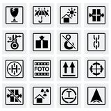 Vector Marking of cargo icon set Stock Images