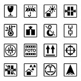 Vector Marking of cargo icon set Stock Image