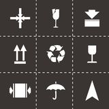 Vector marking of cargo  icons set Royalty Free Stock Photos