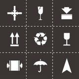 Vector marking of cargo  icons set Royalty Free Stock Photos