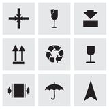 Vector marking of cargo  icons set Royalty Free Stock Photography