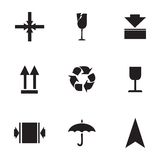 Vector marking of cargo  icons set Royalty Free Stock Image