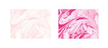 Vector marmeren abstracte achtergrond Vloeibaar marmeren patroon In malplaatje Stock Afbeelding