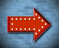 Vector marquee arrow symbol Stock Images